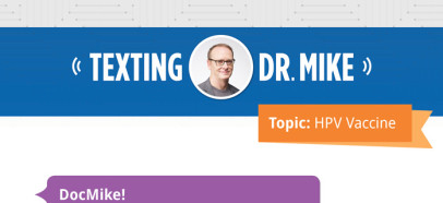 Texting with Dr. Mike — Shareable Graphic