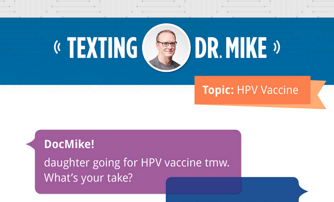 Texting with Dr. Mike: HPV edition